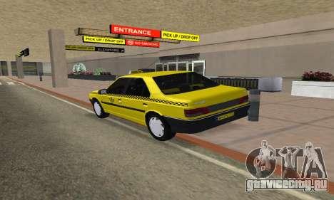 Peugeot 405 Roa Taxi для GTA San Andreas вид слева