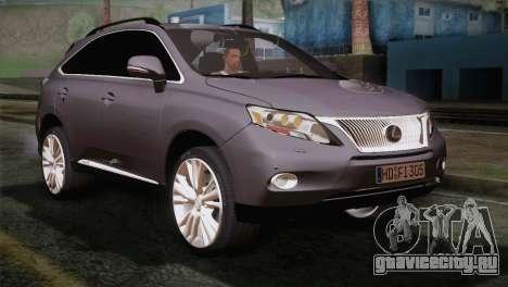 Lexus RX450H 2012 для GTA San Andreas