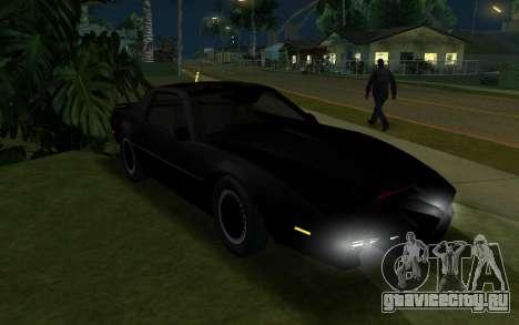 K.i.T.T. 2000 для GTA San Andreas вид слева