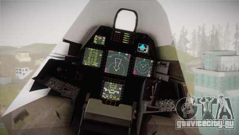 F-22 Raptor Hatsune Miku для GTA San Andreas вид справа