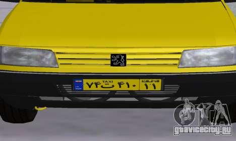 Peugeot 405 Roa Taxi для GTA San Andreas салон