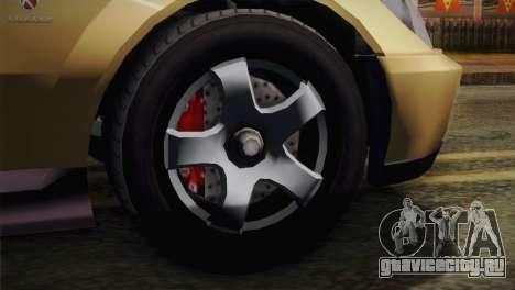 GTA 5 Karin Sultan для GTA San Andreas вид сзади слева
