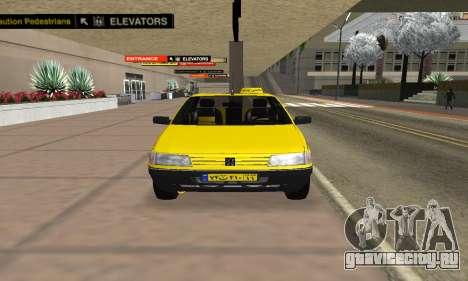 Peugeot 405 Roa Taxi для GTA San Andreas вид справа