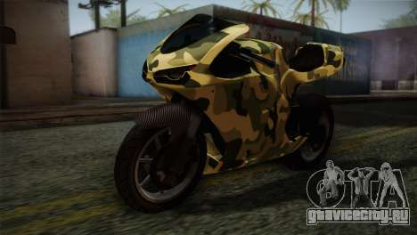 GTA 5 Bati Green для GTA San Andreas вид сзади
