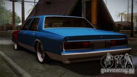 Chevy Caprice Hustler & Flow для GTA San Andreas вид слева