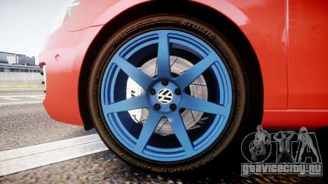 Volkswagen Golf Mk6 GTI rims3 для GTA 4 вид сзади