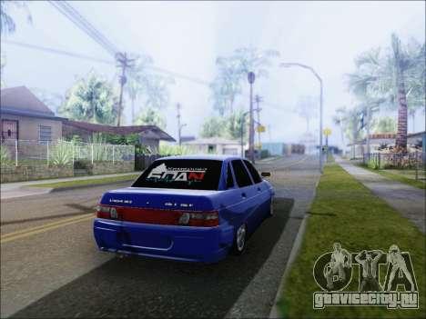 Ваз 2110 БПАN Кемерово для GTA San Andreas вид сзади слева