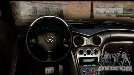 Maserati Gransport 2006 для GTA San Andreas вид изнутри