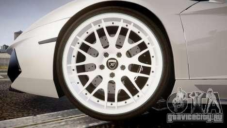 Lamborghini Aventador Hamann Limited 2014 [EPM] для GTA 4 вид сзади