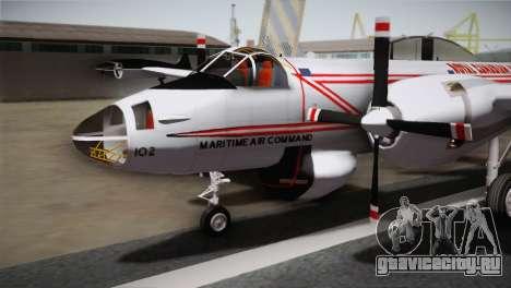 P2V-7 Lockheed Neptune JMSDF для GTA San Andreas вид справа
