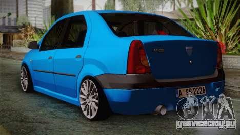 Dacia Logan 2006 для GTA San Andreas вид слева