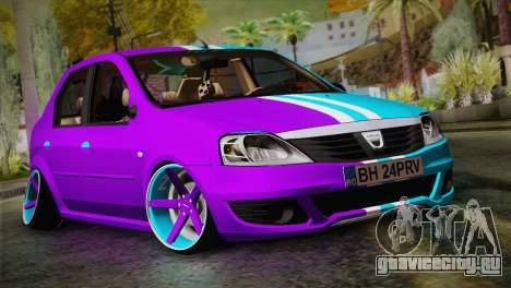 Dacia Logan Purple-Blue для GTA San Andreas
