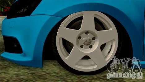 Volkswagen Polo GTI 2014 для GTA San Andreas вид сзади слева