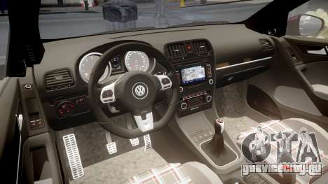 Volkswagen Golf Mk6 GTI rims3 для GTA 4 вид изнутри
