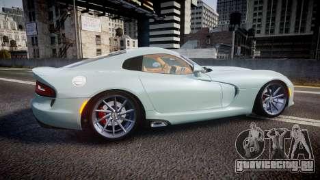 Dodge Viper SRT 2013 rims3 для GTA 4 вид слева