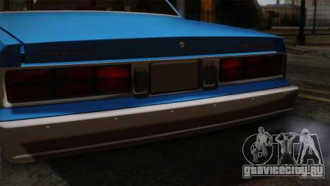 Chevy Caprice Hustler & Flow для GTA San Andreas вид сзади