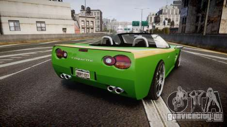 Invetero Coquette Roadster для GTA 4 вид сзади слева