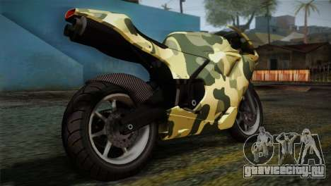 GTA 5 Bati Green для GTA San Andreas вид слева