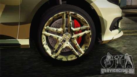 Mercedes-Benz A45 AMG Camo Edition для GTA San Andreas вид сзади слева
