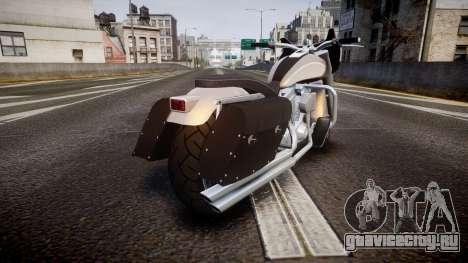 GTA V Western Motorcycle Company Bagger для GTA 4 вид сзади слева
