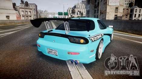 Mazda RX-7 C-West для GTA 4 вид сзади слева