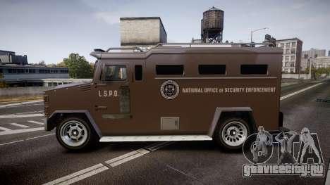 GTA V Brute Police Riot для GTA 4 вид слева