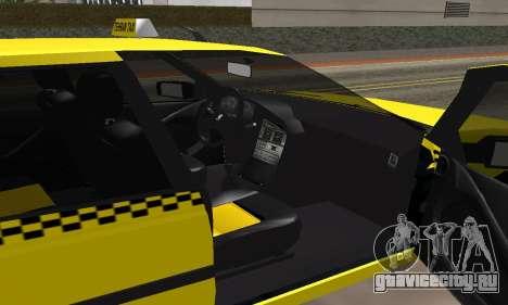 Peugeot 405 Roa Taxi для GTA San Andreas вид изнутри