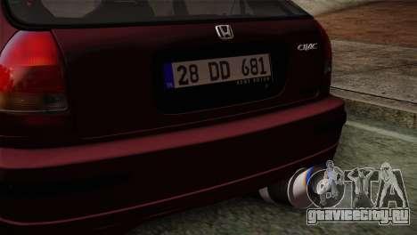 Honda Civic 1.4i S TMC для GTA San Andreas вид справа