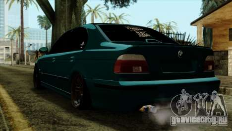 BMW 540 E39 Accuair для GTA San Andreas вид слева