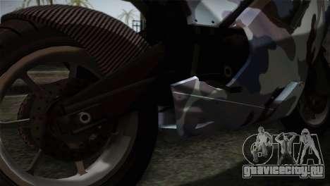 GTA 5 Bati Blue для GTA San Andreas вид сзади