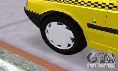 Peugeot 405 Roa Taxi для GTA San Andreas вид снизу