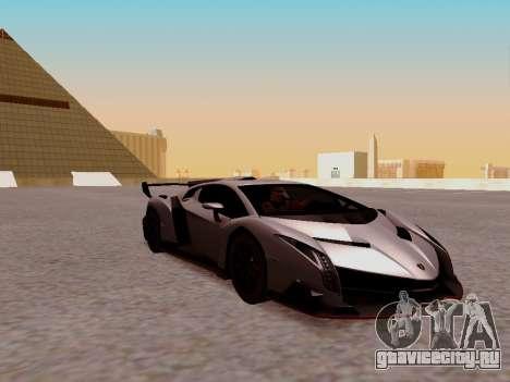 Lamborghini Veneno для GTA San Andreas вид сзади слева