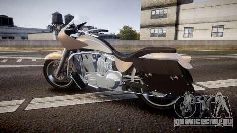 GTA V Western Motorcycle Company Bagger для GTA 4 вид слева