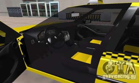 Peugeot 405 Roa Taxi для GTA San Andreas вид сбоку