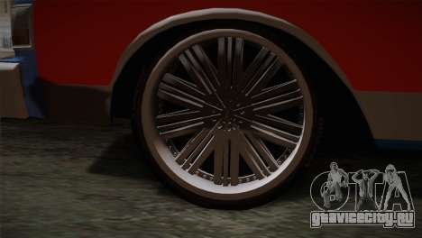 Chevy Caprice Hustler & Flow для GTA San Andreas вид сзади слева