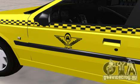 Peugeot 405 Roa Taxi для GTA San Andreas вид сверху