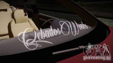 Volkswagen Golf 5 для GTA San Andreas вид сзади