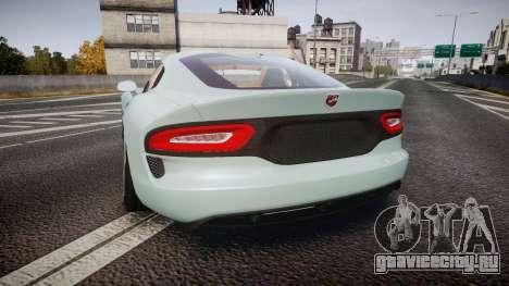 Dodge Viper SRT 2013 rims3 для GTA 4 вид сзади слева