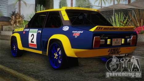 Fiat Abarth Sport Edition для GTA San Andreas вид слева