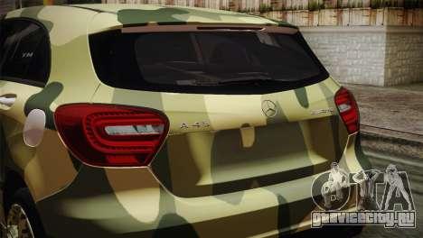 Mercedes-Benz A45 AMG Camo Edition для GTA San Andreas вид сзади