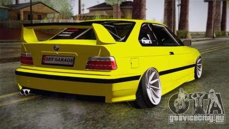BMW M3 E36 DRY Garage для GTA San Andreas вид слева