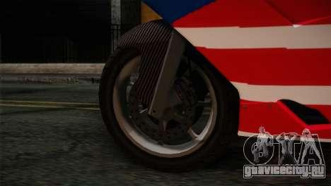 GTA 5 Bati American для GTA San Andreas вид сзади слева