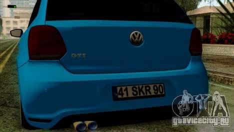 Volkswagen Polo GTI 2014 для GTA San Andreas вид справа