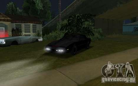 K.i.T.T. 2000 для GTA San Andreas вид сзади слева