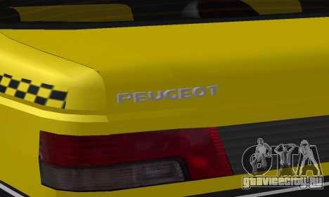 Peugeot 405 Roa Taxi для GTA San Andreas колёса