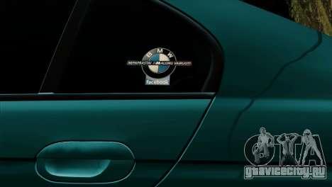 BMW 540 E39 Accuair для GTA San Andreas вид изнутри