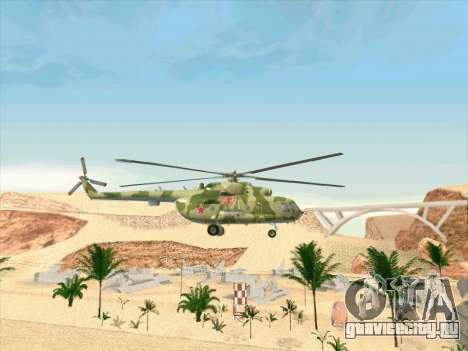 Ми-8 для GTA San Andreas вид сзади
