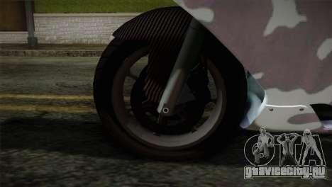 GTA 5 Bati Blue для GTA San Andreas вид сзади слева