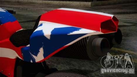 GTA 5 Bati American для GTA San Andreas вид сзади