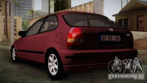 Honda Civic 1.4i S TMC для GTA San Andreas вид слева